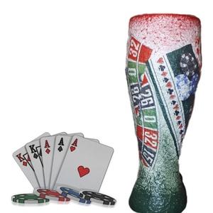 Póker sörös pohár ajándék ötlet kártyásoknak házavatóra, kártya partira, szülinapra (Biborvarazs) - Meska.hu