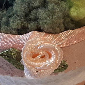 Rosegold rózsa szív kerámia kaspóban esküvői, elhegyzési, házassági évfordulós dekoráció, asztali dísz, vendég ajándék.  (Biborvarazs) - Meska.hu