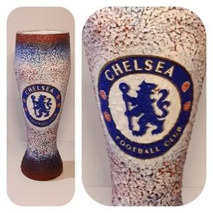Chelsea foci rajongói sörös pohár 500 ml , Konyhafelszerelés, Otthon & lakás, Férfiaknak, Focirajongóknak, Sör, bor, pálinka, Decoupage, transzfer és szalvétatechnika, Chelsea foci rajongói sörös pohár 500 ml \n\nSör kedvelőknek kötelező kellék! Kiváló ajándék mikulásra..., Meska
