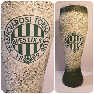 FTC sörös pohár FTC foci rajongóknak, Otthon & lakás, Férfiaknak, Focirajongóknak, Sör, bor, pálinka, Decoupage, transzfer és szalvétatechnika, FTC sörös pohár FTC foci rajongóknak\nSör kedvelőknek kötelező kellék! (500 ml)\n\nEgyedileg feliratozh..., Meska