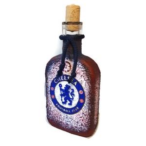 Chelsea foci rajongói italos dísz- vagy használati üveg  (Biborvarazs) - Meska.hu
