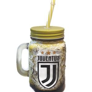 Juventus foci rajongói sörös korsó vagy szívószálas üveg kettő az egyben, egyedi ajándék szülinapra, névnapra, karácsony, Pohár, Konyhafelszerelés, Otthon & Lakás, Decoupage, transzfer és szalvétatechnika, Juventus foci rajongói sörös korsó, szívószálas üveg, füles bögre 3 az 1-ben foci rajongói ajándék. ..., Meska