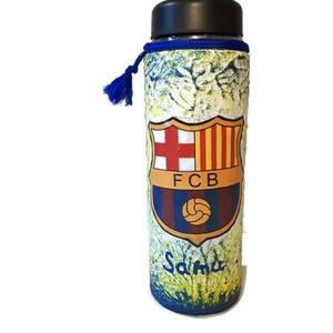 Fc Barcelona kulacs, palack és üdítős pohár Ronaldo képével ajándék szülinapra, névnapra, mikulásra, karácsonyra., Konyhafelszerelés, Otthon & lakás, Dekoráció, Ünnepi dekoráció, Egyéb, Decoupage, transzfer és szalvétatechnika, Fc Barcelona kulacs, palack és üdítős pohár Ronaldo képével ajándék gyermeknapra, szülinapra, névnap..., Meska