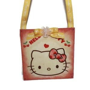 Hello Kitty sötétben világító fa ajtódísz, falidísz, kopogtató szülinapra, névnapra, mikulásra... , Otthon & Lakás, Ajtódísz & Kopogtató, Dekoráció, Hello kitty sötétben világító fa ajtódísz, falidísz, szoba dekoráció ajándék gyermeknapra, szülinapr..., Meska