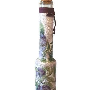 Szilvás italos díszüveg pálinka, szörp, üdítő tárolására, kóstoltatására, házavatóta, névnapra, szülinapra.