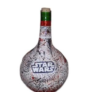 Star Wars, Csillagok háborúja Darth Wader sötétben fluoreszkáló italos üveg, Férfiaknak, Sör, bor, pálinka, Otthon & lakás, Legénylakás, Decoupage, transzfer és szalvétatechnika, Star Wars, Csillagok háborúja Darth Wader sötétben fluoreszkáló italos üveg.\n\nKülönlegessége a sötét..., Meska
