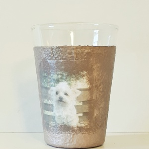 Kutyás üdítős vizes pohár szülinapi, névnapi ajándékötlet., Pohár, Konyhafelszerelés, Otthon & Lakás, Decoupage, transzfer és szalvétatechnika, Kutyás üdítős vizes pohár szülinapi, névnapi ajándékötlet.  (2dl)\n\nA pohár különlegessége a rücskös ..., Meska