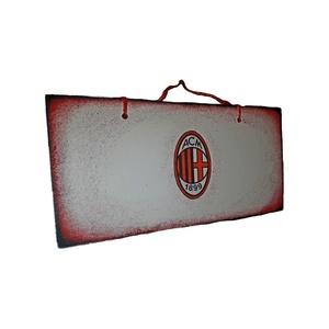 Ac Milan fa fluroeszkáló ajtó tábla, kopogtató, ajtódísz, falidísz, emléktábla futball rajongói ajándék, Otthon & Lakás, Ajtódísz & Kopogtató, Dekoráció, Ac Milan fa fluroeszkáló ajtó tábla, kopogtató, ajtódísz, falidísz, emléktábla futball rajongói aján..., Meska