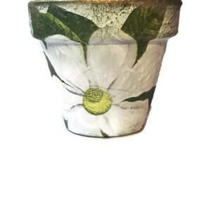 Írisz fehér virágos kaspó virágcserép díszdobozban névnapra, szülinapra pedagógusoknak, virágot kedvelőknek.  (Biborvarazs) - Meska.hu