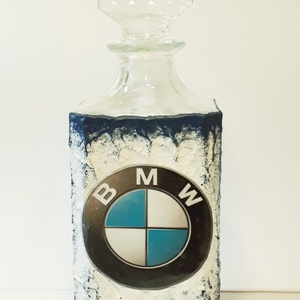 BMW whiskys üveg, BMW rajongói ajándék italos üveg szülinapra, névnapra, karácsonyra, húsvétra, Díszüveg, Dekoráció, Otthon & Lakás, Decoupage, transzfer és szalvétatechnika, BMW whiskys üveg, BMW rajongói ajándék italos üveg szülinapra, névnapra, karácsonyra, húsvétra (950 ..., Meska