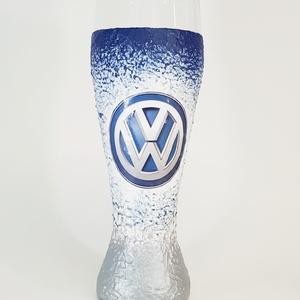 Volkswagen sörös pohár autórajongói ajándék, Otthon & lakás, Konyhafelszerelés, Férfiaknak, Legénylakás, Sör, bor, pálinka, Decoupage, transzfer és szalvétatechnika, Volkswagen sörös pohár autó rajongói ajándék. (500 ml )\n\nDíjmentesen kérhető rá egyedi felirat. \n\nRe..., Meska