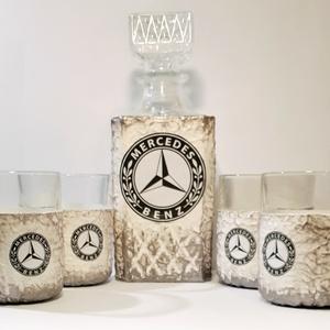MERCEDES whiskys készlet MERCEDES rajongói ajándék szülinapra, névnapra, karácsonyra, akár saját fotóddal is. , Otthon & Lakás, Dekoráció, Díszüveg, MERCEDES whiskys készlet MERCEDES rajongói ajándék szülinapra, névnapra, karácsonyra, akár saját fot..., Meska