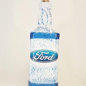 Ford rajongói ajándék - italos dísz- és használati üveg. , Üveg & Kancsó, Konyhafelszerelés, Otthon & Lakás, Decoupage, transzfer és szalvétatechnika, Ford rajongói ajándék - italos dísz- és használati üveg. \n\nŰrtartalma: 750 ml -1000 ml. (Szögletes i..., Meska