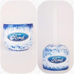 Ford tojástartó és gyertyatartó 2 az 1-ben karácsonyra, húsvétra - Ford rajongói ajándék, Gyertya & Gyertyatartó, Dekoráció, Otthon & Lakás, Decoupage, transzfer és szalvétatechnika, Ford tojástartó és gyertyatartó 2 az 1-ben karácsonyra, húsvétra - Ford rajongói ajándék.\n\nAnyaga: k..., Meska