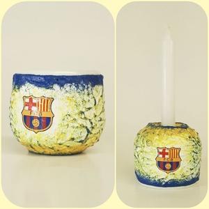 FC Barcelona húsvéti tojástartó és gyertyatartó 2 az 1-ben húsvétra - Barca futball rajongói ajándék, Lakberendezés, Otthon & lakás, Gyertya, mécses, gyertyatartó, Dekoráció, Decoupage, transzfer és szalvétatechnika, FC Barcelona húsvéti tojástartó és gyertyatartó 2 az 1-ben locsoló ajándék, ajándék ötlet nem csak h..., Meska