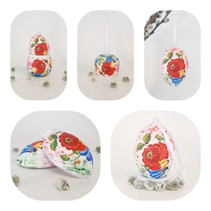 Kalocsai mintás kerámia tojástartó, gyertyatartó és meglepetés tojás, 3 az 1-ben nem csak húsvétra, magyarországi emlék, Gyertya & Gyertyatartó, Dekoráció, Otthon & Lakás, Decoupage, transzfer és szalvétatechnika, Kalocsai mintás kerámia tojástartó húsvét tojás, locsoló ajándék és gyertyatartó meglepetés tojással..., Meska