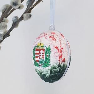 Magyaros, címeres meglepetés tojás, húsvéti tojás nem csak húsvétra, magyarországi emlék (Biborvarazs) - Meska.hu