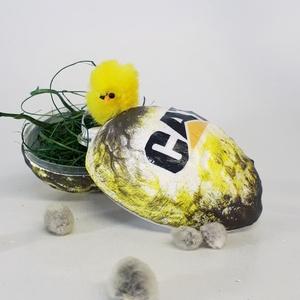CAT, Caterpillar meglepetés tojás, húsvéti tojás nem csak húsvétra, névnapra, szülinapra, gyermeknapra. (Biborvarazs) - Meska.hu