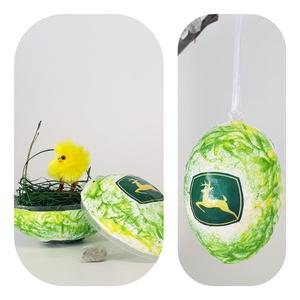 John Deere meglepetés tojás, húsvéti tojás nem csak húsvétra, névnapra, szülinapra, gyermeknapra., Otthon & Lakás, Díszüveg, Dekoráció, Dísztárgy, John Deere meglepetés tojás, locsoló ajándék, húsvéti tojás, ajándék nem csak húsvétra, névnapra, sz..., Meska