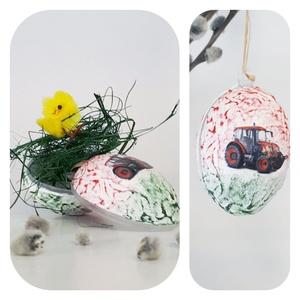 Zetor, traktor meglepetés tojás, húsvéti tojás nem csak húsvétra, névnapra, szülinapra, gyermeknapra., Függődísz, Dekoráció, Otthon & Lakás, Dísztárgy, Decoupage, transzfer és szalvétatechnika, Zetor, traktor meglepetés tojás, locsoló ajándék, húsvéti tojás ajándék nem csak húsvétra, névnapra,..., Meska