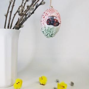 Zetor, traktor meglepetés tojás, húsvéti tojás nem csak húsvétra, névnapra, szülinapra, gyermeknapra. (Biborvarazs) - Meska.hu