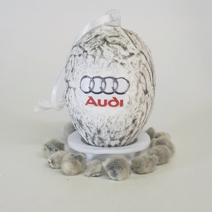 Audi húsvéti tojás, autó rajongói meglepetés tojás, nem csak húsvétra, névnapra, szülinapra, gyermeknapra., Függődísz, Dekoráció, Otthon & Lakás, Decoupage, transzfer és szalvétatechnika, Audi húsvéti tojás, autó rajongói meglepetés tojás, locsoló ajándék nem csak húsvétra, névnapra, szü..., Meska