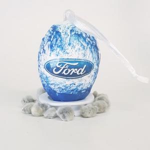 Ford húsvéti tojás, autó rajongói meglepetés tojás, nem csak húsvétra, névnapra, szülinapra, gyermeknapra., Függődísz, Dekoráció, Otthon & Lakás, Decoupage, transzfer és szalvétatechnika, Ford húsvéti tojás, autó rajongói meglepetés tojás, locsoló ajándéknem csak húsvétra, névnapra, szül..., Meska