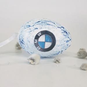 BMW sötétben fluoreszkáló húsvéti tojás, autó rajongói meglepetés tojás, nem csak húsvétra, névnapra, szülinapra... (Biborvarazs) - Meska.hu