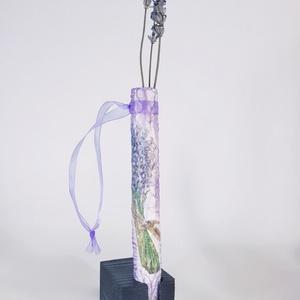Levendula függeszthető üveg váza levendulát kedvelőknek szülinapra, névnapra, házavatóra, Otthon & Lakás, Váza, Dekoráció, Levendula függeszthető üveg váza levendulát kedvelőknek szülinapra, névnapra, házavatóra.(magassága:..., Meska