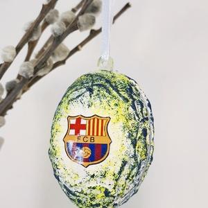 Fc Barcelona húsvéti tojás foci rajongói meglepetés tojás nem csak húsvétra, névnapra, szülinapra, gyermeknapra, Dísztárgy, Dekoráció, Otthon & Lakás, Decoupage, transzfer és szalvétatechnika, Fc Barcelona húsvéti tojás foci rajongói meglepetés tojás, locsoló ajándék nem csak húsvétra, névnap..., Meska