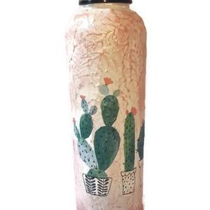 Virágos kaktusz kulacs, műanyag flaska ajándék gyermeknapra, szülinapra, névnapra, mikulásra, karácsonyra valentin napra, Konyhafelszerelés, Otthon & lakás, Bögre, csésze, Dekoráció, Dísz, Ünnepi dekoráció, Gyereknap, Decoupage, transzfer és szalvétatechnika, Virágos kaktusz kulacs, műanyag flaska ajándék gyermeknapra, szülinapra, névnapra, mikulásra, karács..., Meska