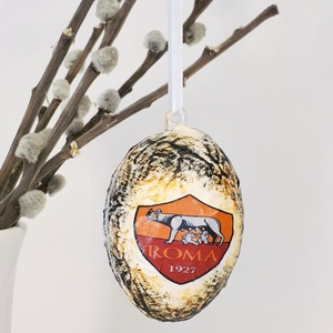 AS Roma húsvéti tojás, foci rajongói meglepetés tojás, nem csak húsvétra, névnapra, szülinapra, gyermeknapra. (Biborvarazs) - Meska.hu