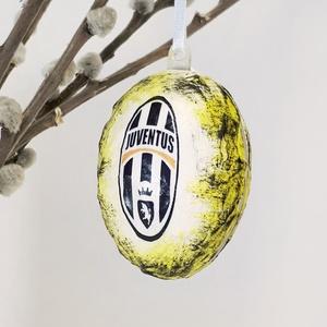 Juventus húsvéti tojás, foci rajongói meglepetés tojás, nem csak húsvétra, névnapra, szülinapra, gyermeknapra. (Biborvarazs) - Meska.hu