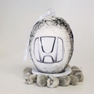Honda húsvéti tojás, autó rajongói meglepetés tojás, nem csak húsvétra, névnapra, szülinaprra, mikulásra, adventre., Díszüveg, Dekoráció, Otthon & Lakás, Decoupage, transzfer és szalvétatechnika, Honda húsvéti tojás, autó rajongói meglepetés tojás, locsoló ajándék nem csak húsvétra, névnapra, sz..., Meska