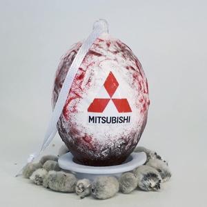 Mitsubishi húsvéti tojás, autó rajongói meglepetés tojás, nem csak húsvétra, névnapra, szülinapra..., Dísztárgy, Dekoráció, Otthon & Lakás, Decoupage, transzfer és szalvétatechnika, Mitsubishi húsvéti tojás, autó rajongói meglepetés tojás, locsoló ajándék nem csak húsvétra, névnapr..., Meska