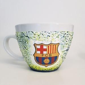 Fc Barcelona kerámia bögre, foci rajongói ajándék névnapra, szülinapra, karácsonyra. , Konyhafelszerelés, Otthon & lakás, Bögre, csésze, Férfiaknak, Decoupage, transzfer és szalvétatechnika, Fc Barcelona kerámia bögre, foci rajongói ajándék névnapra, szülinapra, karácsonyra. gyermeknapra.\n\n..., Meska