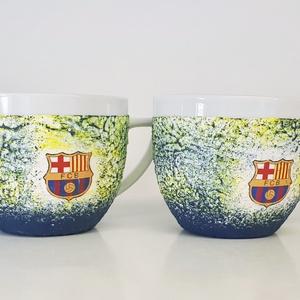 Fc Barcelona cappucinós kávéspohár 2 db-os szett Barca foci rajongói ajándék férfiaknak férjeknek barátoknak kollegáknak, Konyhafelszerelés, Otthon & lakás, Férfiaknak, Focirajongóknak, Bögre, csésze, Decoupage, transzfer és szalvétatechnika, Fc Barcelona cappucinos kávéspohár 2 db-os szett Barca foci rajongói ajándék férfiaknak, férjeknek, ..., Meska