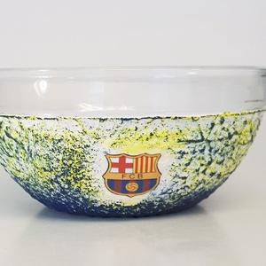 Fc Barcelona müzlis, kompótos tál Barca foci rajongói ajándék férfiaknak férjeknek barátoknak kollegáknak, Konyhafelszerelés, Otthon & lakás, Férfiaknak, Focirajongóknak, Bögre, csésze, Decoupage, transzfer és szalvétatechnika, Fc Barcelona müzlis, kompótos tál  Barca foci rajongói ajándék férfiaknak, férjeknek, barátoknak, ko..., Meska
