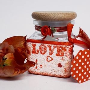 Piros szív mandala fűszertartó ajándék valentin napra, nőnapra, anyák napjára, névnapra, szülinapra.  , Otthon & Lakás, Fűszertartó, Konyhafelszerelés, Piros szív mandala fűszertartó ajándék valentin napra, nőnapra, anyák napjára, névnapra, szülinapra ..., Meska