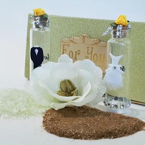 """Menyasszony és vőlegény só- és borstartó díszdobozban esküvőre, eljegyzésre, lakodalomba.  , Esküvő, Esküvői dekoráció, Nászajándék, Otthon & lakás, Konyhafelszerelés, Fűszertartó, Mindenmás, Menyasszony és vőlegény só- és borstartó díszdobozban esküvőre, eljegyzésre, lakodalomba.  \n\n\""""TIÉD A..., Meska"""