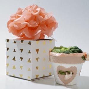 Rosegold rózsa szív végtelen szerelem kerámia kaspó díszdobozban ajándék névnapra, szülinapra, mikulásra, karácsonyra. (Biborvarazs) - Meska.hu
