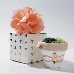 Rosegold rózsa szív végtelen szerelem kerámia kaspó díszdobozban ajándék névnapra, szülinapra, mikulásra, karácsonyra., Otthon & Lakás, Díszdoboz, Dekoráció, Rosegold rózsa szív végtelen szerelem kerámia kaspó díszdobozban ajándék névnapra, szülinapra, mikul..., Meska