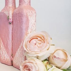 Két fél egy egész pink szives homokceremónia kellék homokszóráshoz, homokkiöntő dekor üveg, esküvői ajándék nászajándék, Esküvő, Nászajándék, Esküvői dekoráció, Otthon & lakás, Dekoráció, Decoupage, transzfer és szalvétatechnika, Két fél egy egész pink szives homokceremónia kellékek homokszóráshoz, homokkiöntő dekor üvegek, eskü..., Meska