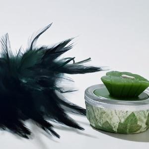 Pálmafa, pálmalevél dísz- és használati mini mécsestartó pálmalevél gyertyával, ajándék pálmafa kedvelőknek. (Biborvarazs) - Meska.hu