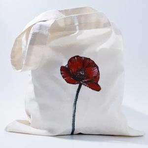 Pipacs textil táska, bevásárló táska, ajándék táska, retáska, ökotáska, pipacsot kedvelőknek., Táska & Tok, Bevásárlás & Shopper táska, Pipacs textil táska, bevásárló táska, ajándék táska, retáska, ökotáska, pipacsot kedvelőknek szülina..., Meska