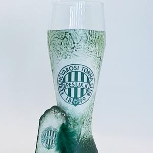 FTC sörös pohár FTC foci rajongóknak fa sötétben fluoreszkáló tollas kulcstartóval.  , Otthon & Lakás, Pohár, Konyhafelszerelés, Decoupage, transzfer és szalvétatechnika, Meska