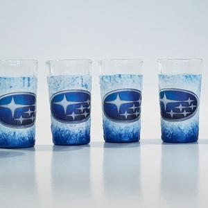 Subaru röviditalos, pálinkás, snapszos 6 db-os pohárszett rajongói ajándékl - Meska.hu