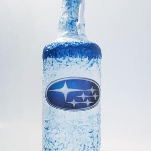 Subaru italos dísz- és használati pálinkás üveg autó rajongói ajándék., Otthon & Lakás, Díszüveg, Dekoráció, Subaru italos dísz- és használati pálinkás üveg autó rajongói ajándék.  (750 ml)  Subaru rajongó csa..., Meska