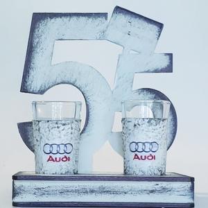 AUDI fa tálcás ital kínáló AUDI rajongói ajándék 55. szülinapra röviditalos pálinkás pohárral. , Otthon & Lakás, Pohár, Konyhafelszerelés, AUDI fa tálcás ital kínáló AUDI rajongói ajándék 55. szülinapra röviditalos pálinkás pohárral.   Ren..., Meska