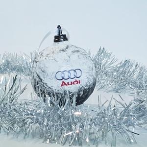 AUDI karácsonyfa gömb, AUDI karácsonyfa dísz AUDI rajongói ajándék, karácsonyi ajándék., Karácsony & Mikulás, Karácsonyfadísz, AUDI karácsonyfa gömb, AUDI karácsonyfa dísz AUDI rajongói ajándék, karácsonyi ajándék.  Mérete: 7-8..., Meska